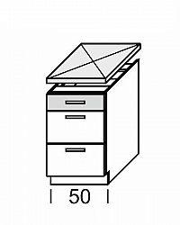Extom KAMDUO, dolní skříňka DUO DS5/3, hruška/ořech