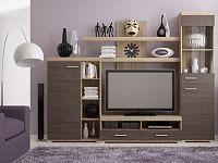 Extom MISTRAL, obývací stěna, dub sonoma/avola šedá