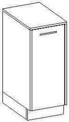 Extom NANCY, skříňka nízká, bílá/fialový lesk
