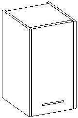 Extom NANCY, skříňka závěsná, bílá/černý lesk