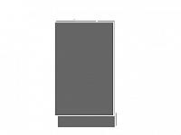 Extom QUANTUM, dvířka k myčce ZM 45, beige mat/grey