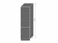 Extom QUANTUM, potravinová skříň D14DP, beige mat/grey
