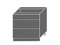 Extom QUANTUM, skříňka dolní D3E 80, white mat/bílá
