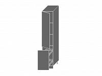 Extom QUANTUM, skříňka potravinová 2D14k 40 + cargo, white mat/lava