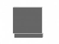 Extom TITANIUM, dvířka pro vestavbu ZM-57/60, sokl: bílý, barva: fino černé