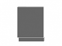 Extom TITANIUM, dvířka pro vestavbu ZM-60, sokl: lava, barva: fino černé