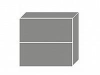 Extom TITANIUM, horní skříňka W8B 80 AV, korpus: lava, barva: fino černé