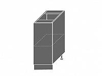 Extom TITANIUM, skříňka dolní D1D 30, korpus: grey, barva: fino černé