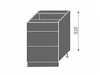 Extom TITANIUM, skříňka dolní D3E 60, korpus: grey, barva: fino černé