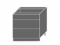 Extom TITANIUM, skříňka dolní D3E 80, korpus: grey, barva: fino černé