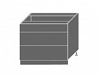 Extom TITANIUM, skříňka dolní D3E 90, korpus: grey, barva: fino černé