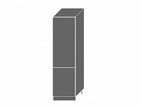 Extom TITANIUM, skříňka pro vestavnou lednici D14DL 60, korpus: grey, barva: fino černé