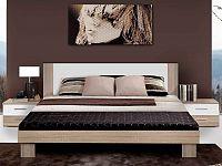 Forte HELEN, postel 180x200 cm s nočními stolky, dub sonoma/bílá