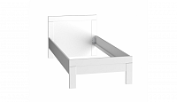 Forte SNOW, postel 200x90 cm, bílá