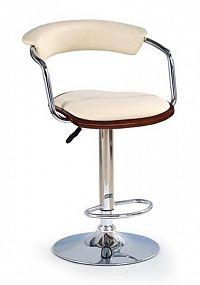Halmar Barová židle H-19, třešeň antická/béžová