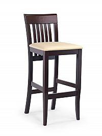 Halmar Barová židle MIX, ořech tmavý