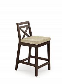 Halmar Barová židle nízká BORYS, tmavý ořech