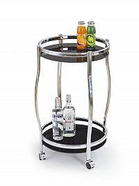 Halmar Barový stolek BAR-8, černá