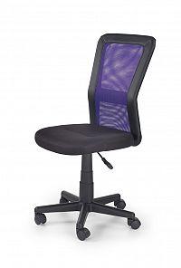 Halmar Dětská židle COSMO, černá/fialová