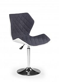 Halmar Dětská židle MATRIX 2, bílá/šedá