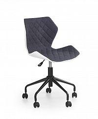 Halmar Dětská židle MATRIX, bílá/šedá