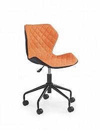 Halmar Dětská židle MATRIX, černá/oranžová