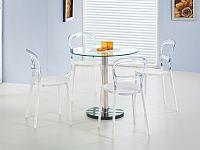 Halmar Jídelní stůl CYRYL, kov/sklo