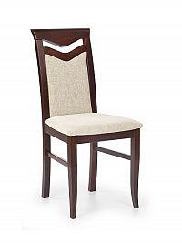 Halmar Jídelní židle CITRONE, ořech tmavý