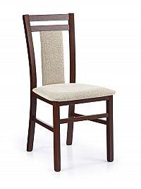 Halmar Jídelní židle HUBERT 8, ořech tmavý