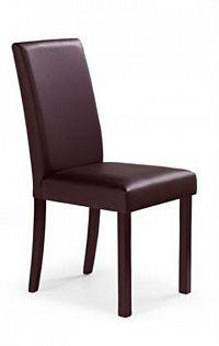 Halmar Jídelní židle NIKKO, ořech tmavý/tmavě hnědá