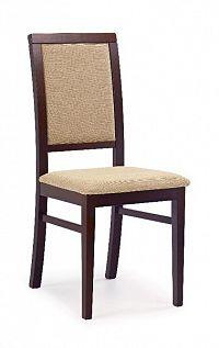 Halmar Jídelní židle SYLWEK 1, ořech tmavý/látka
