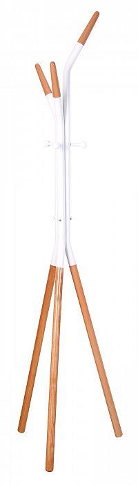 Halmar Věšák W51, výška 178 cm, bílý/buk