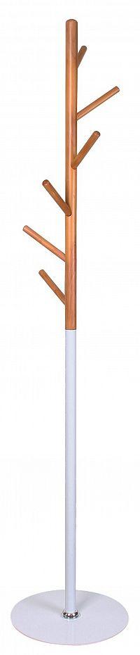 Halmar Věšák W53 výška 170 cm,  bílý/buk