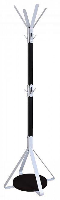 Halmar Věšák W55 výška 175 cm, černo-bílý
