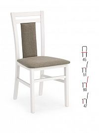 Halmar Židle HUBERT 8, bílá