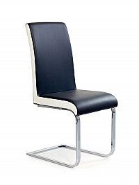 Halmar Židle K103, černá/bílá