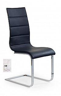 Halmar Židle K104, černá/bílá