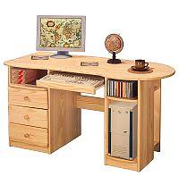 Idea Dřevěný PC stůl P8843-I, masiv borovice