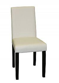 Idea Jídelní židle Prima, bílá/hnědé nohy
