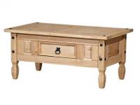 Idea Konferenční stolek CORONA, masiv borovice, vosk
