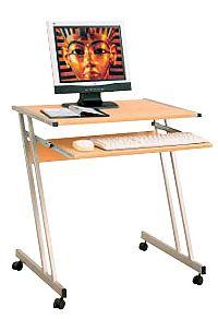 Idea PC stůl na kolečkách 106, buk
