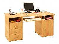 Idea Praktický PC stůl se zásuvkami a skříňkou 194, buk
