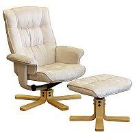 Idea Relaxační masážní křeslo s podnožkou K36, béžové