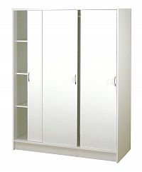 Idea Skříň s posuvnými dveřmi S3323-I, bílá