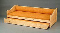 Idea Víceúčelové lůžko P8808-I vč. roštů - 90x200 cm, masiv borovice lak