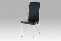 Jídelní židle DCL-840 BK, chrom / koženka černá