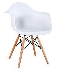 Jídelní židle SHELL, bílá