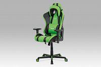 Kancelářská židle KA-V609 GRN, zelená/černá