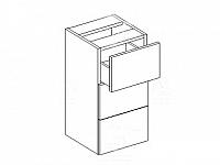 KORAL, skříňka dolní D30S/3, bílá/zebrano_DOPRODEJ