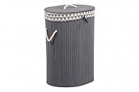 Koš prádelní z bambusu KD4407, šedá